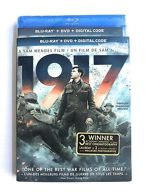 1917 Blu-ray + DVD + Digital 2020 NEW w/Slipcover Complete Free Shipping