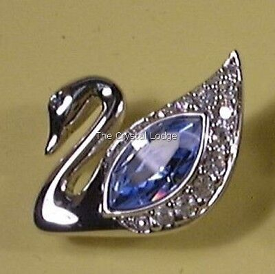 Swarovski Event Pin 2002 Blue Swan For Isadora Year / Usa Exclusive