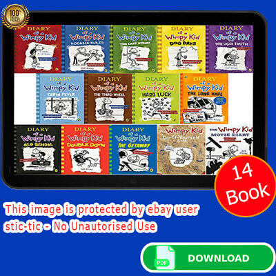 Jeff Kinney - Diary Of A Wimpy Kid All 14 Books All Serie 🔥(P~D~F,Epub,mobi )🔥