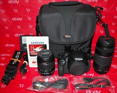 CANON EOS REBEL T3i 18.0MP DSLR + 18-55MM & 75-300MM & MUCH MORE *UNDER 550 SC*