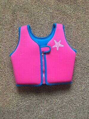 Zoggs Swim Jacket Age  2-3 Years Girls Life Vest Pink Swimming Kids Float