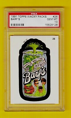 1991 Wacky Packages Packs - Barf's PSA 10