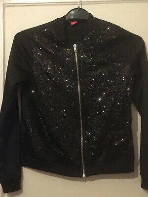 Girls YD Young Dimensions Black Sequin Dance Jacket Age 12/13