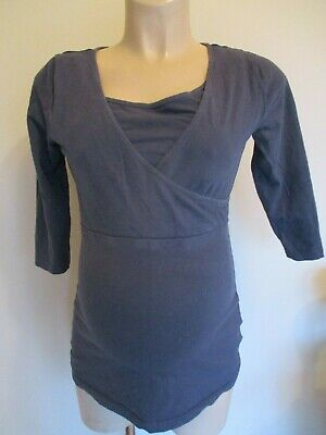 Blooming Marvellous Maternity & Nursing Navy Tunic T-Shirt Top Size M 12-14