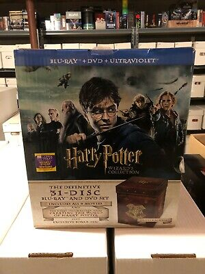 Harry Potter Wizard's Collection 31 Disc Blu-Ray & DVD 8 Movie Set in Box!