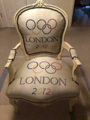 French Louis Chair XV style lounge chair with Olympic rings restored