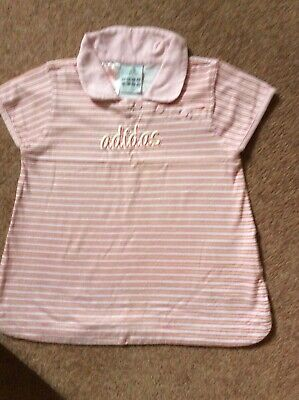 Adidas Girls Top Size 20-22 Chest Red And White