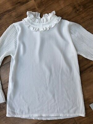 Bnwt Girls Gorgeous Ajj Design Italy Long Sleeve Top Age 8  - Perfect
