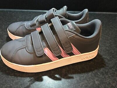 Girls Adidas Trainers Size 13.5 Grey And Pink