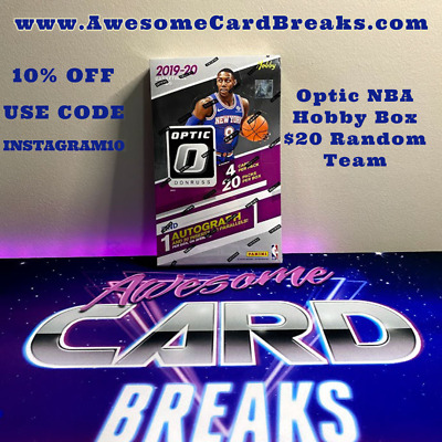 2019-20 Donruss Optic NBA Hobby Box Break #3 Random Team