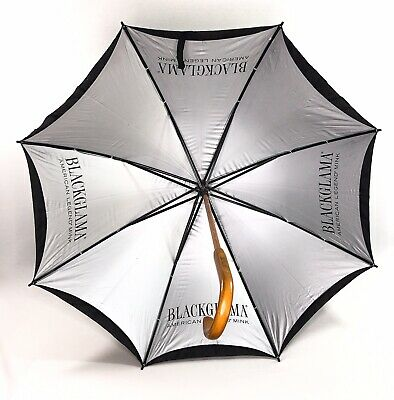 Blackglama Umbrella Advertising American Legend Mink Branded Handle Black Nylon