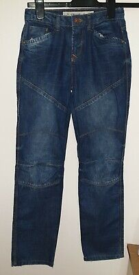 Denim & Co Boys Straight Denim Jeans Blue 10-11 years with Adjustable Waist