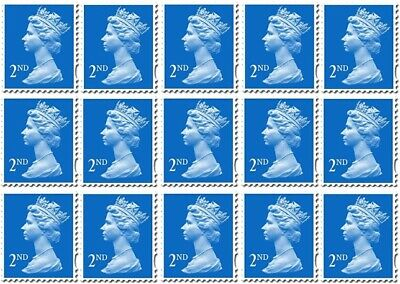 48 x 2nd Class Blue Stamps Royal Mail- Brand New Self Adhesive RRP £31.20