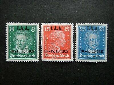 Germany 1927 Stamps MINT Overprint I.A.A. Beethoven Kant Goethe German Deutsches