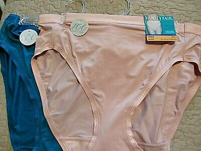 Vanity Fair 2 pair Comfort Where It Counts HI CUT panties size 7/L style 13164 P