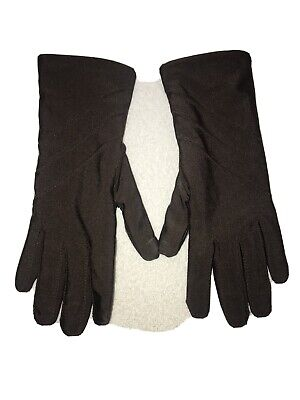isotoner gloves Womens Brown Leather/spandex Driving Gloves