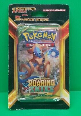 Pokemon TCG XY Roaring Skies 1 Booster Pack and 5 Cards Inside Blister NEW!