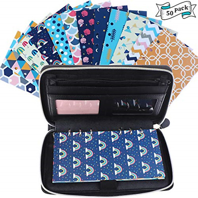 25 Pieces Budget Planner Organizer Wallet for Budgeting Envelopes 12 Patterns 12
