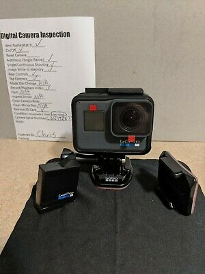 GoPro Hero5 HD Black Edition Action Camera 4K30 12MP 33FT Water Resistant