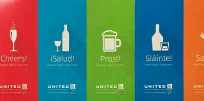 3+3 = 6 United Airlines Beverage Vouchers / Drink Coupons / Chits