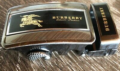Authentic BURBERRY Mens Belt Buckle - Knight On A Horse Gold - 80's Vintage RARE