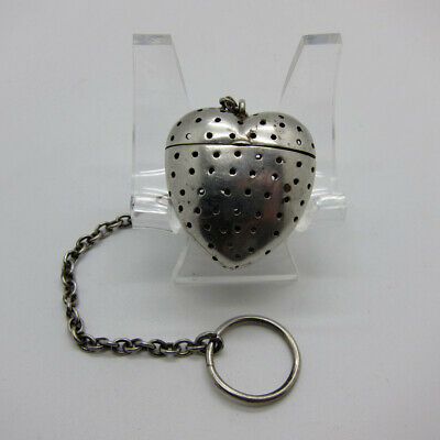 Antique Sterling RARE SHAPE Heart Shaped Teaball Tea Ball Strainer NR