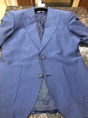 ZARA Men's Slim Fit Blazer Blue EUR 48 US 38