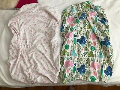 2 Wilson And Frenchy Bassinet Sheets Pink Girls EUC