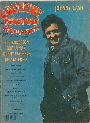 Johnny Cash cover Country Song Roundup magazine September 1975