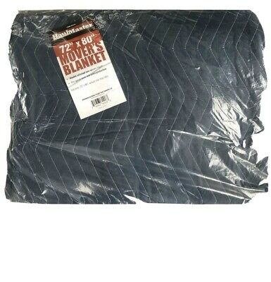 """72"""" X 80"""" Blue Padded Quilted Furniture Movers Moving Blanket Pad NEW"""
