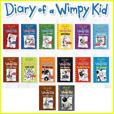 Jeff Kinney - Diary Of A Wimpy Kid 1-14 Books Set Collection