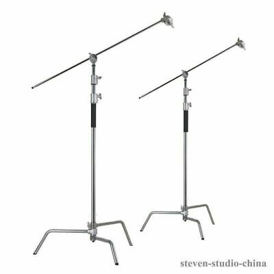2sets* 3.3m 40'' light Centry C Stand detachable turtle base gobo arm grip head