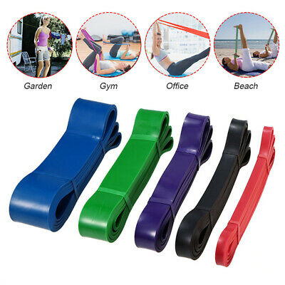 Exercise Assist Bands Rubber Tubes Power Resistance Strength Cross Fit Gym Heavy