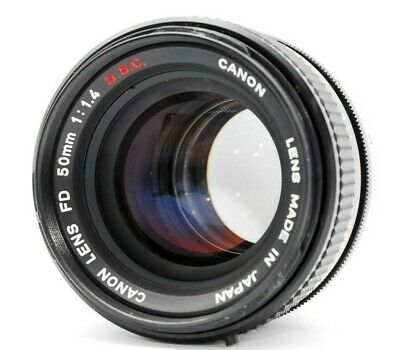 【As is】Canon FD 50mm f/1.4 S.S.C. SSC Manual Focus Lens From Japan