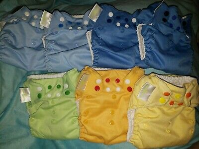Bum Genius One Size Pocket Diaper Lot Of 7 With Inserts