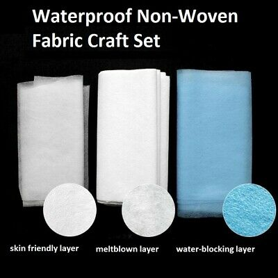 5m/20m Waterproof Non-Woven Fabric Craft Breathable Dust Roof Face Guard Making