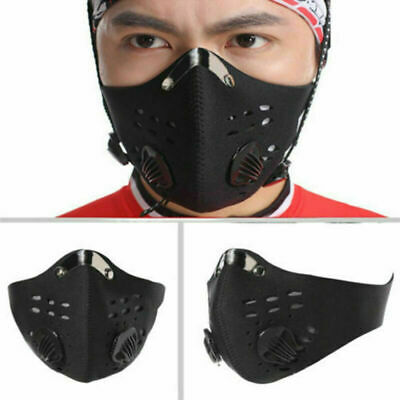 Fitness Motorcycle Bicycle Cycling Anti-Pollution Half Face Cover Filter Black*
