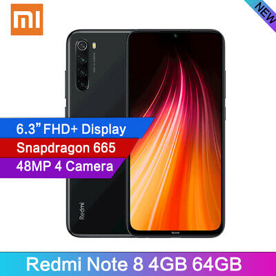 "Xiaomi Redmi Note 8 4+64GB 6.3"" MIUI 10 Snapdragon 665 Octa Core 48MP Smartphone"