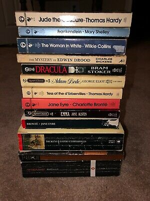 Victorian Classic Literature Used Book Lot Dickens Eliot Hardy And More
