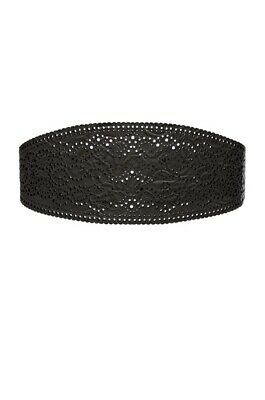 Zimmermann Laser Cut Filigree Embossed Black Belt