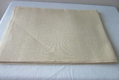 TAPESTRY/ Needlepoint CANVAS - Plain  , Cream shade - Measures 92 x 68 cm
