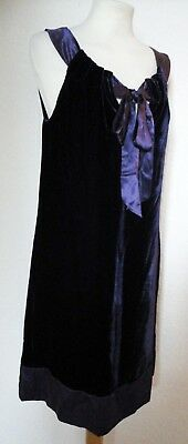 AUTOGRAPH Marks & Spencer M&S Purple Grape Velvet & Silk Shift Dress 10 Party
