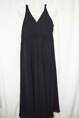 Mamas And Papas Maternity:  Black Long Strappy Evening Dress  Size 16