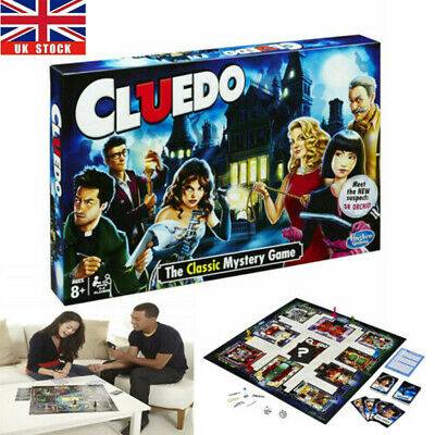 Cluedo The Classic Mystery Board Game Perfect Family Game New Free Shipping