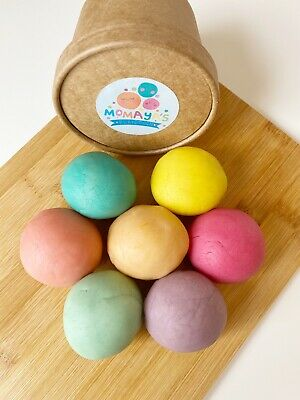 Organic Sensory Scented Natural Homemade Playdough - pastel Colours
