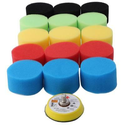 16Pcs Buff Polishing Sponge Pad Kit Car Polisher Polishing Pad Backer Pad FI