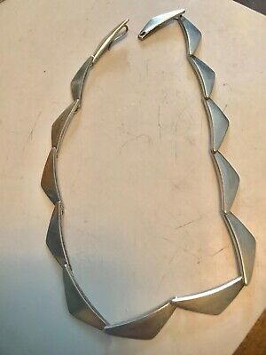 Vintage Georg Jensen Peaks  Sterling Necklace