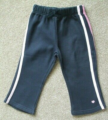 Cherokee 12-18 Months.girls Blue Joggers With Pink Stripes .22Cm Wide 45Cm Long