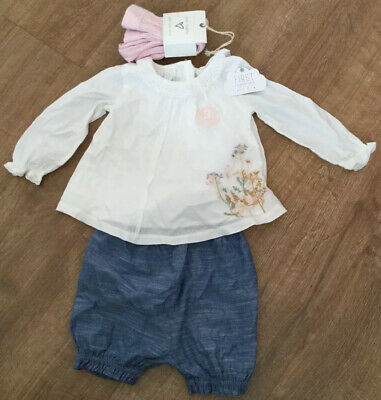Next Baby Girl 3-Piece Set Shorts Top & Tights Age 1.5-2 Years New With Tags £19