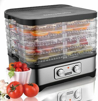 Meykey Food Dehydrator with Temperature Controller 95-158°F Fruit-Meat Dryer